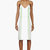 christopher kane white and mint green double pleat cami dress