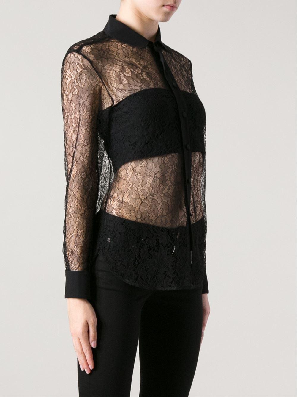 Saint Laurent Sheer Shirt - Eraldo - Farfetch.com