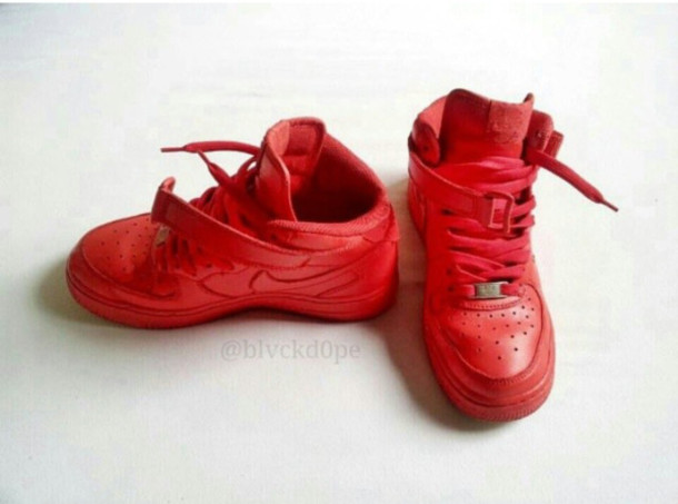 shoes nike cherry red air force high
