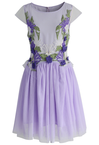 dress chicwish orchid embroidered fairy tulle dress in violet tulle dress summer dress violet dress party dress chicwish.com embroidered dress