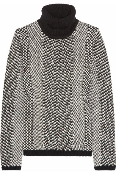 Roberto Cavalli|Embellished wool turtleneck sweater |NET-A-PORTER.COM