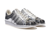 shoes,adidas shoes,adidas,adidas superstars,adidas originals,adidas superstar metal,silver,silver shoes,metallic shoes,metallic,sneakers,adidas metallic