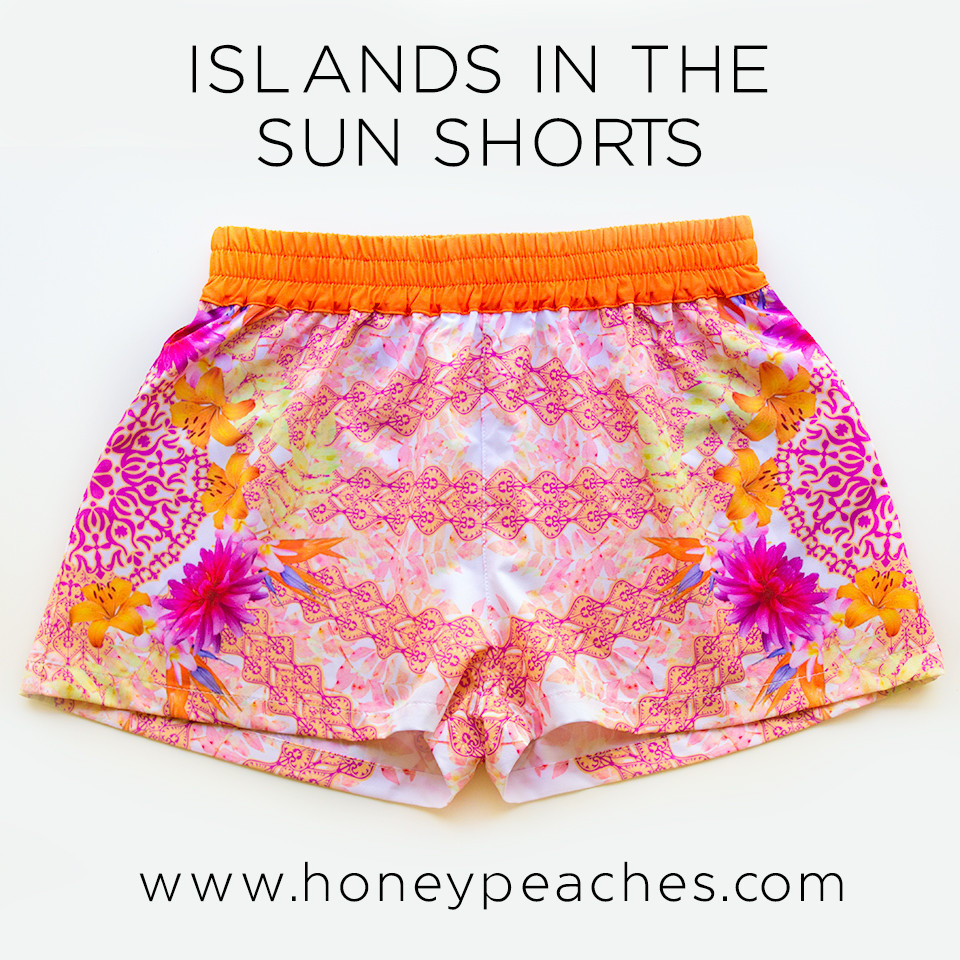 Islands In The Sun Shorts – Honey Peaches