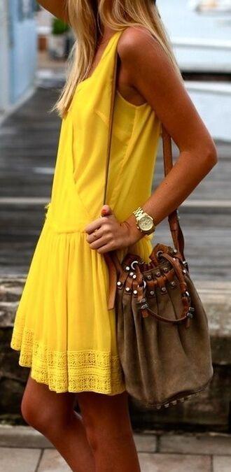 dress yellow dress vest yellow boho dress boho yellow dress