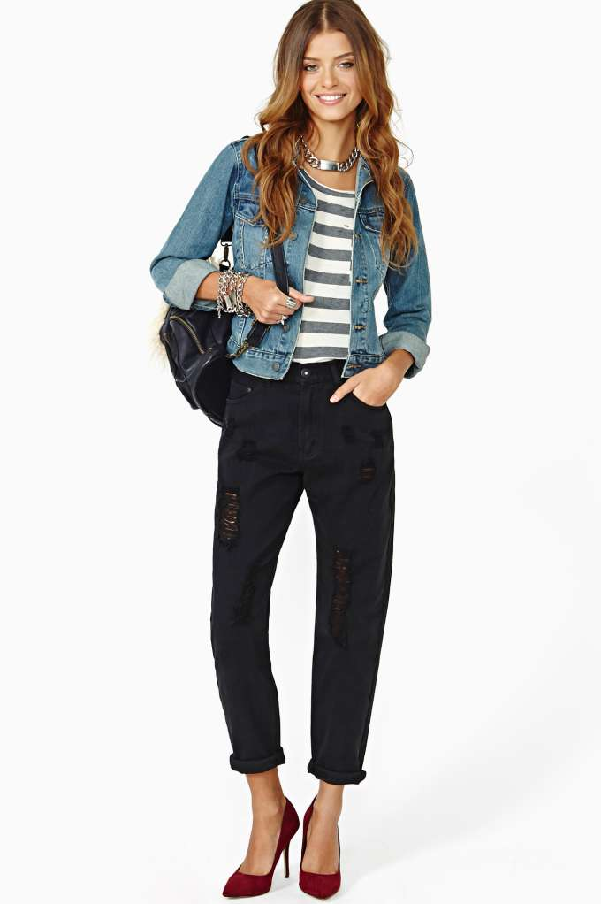 Back In Action Boyfriend Jeans in  Don't Miss The Perfect 10 at Nasty Gal