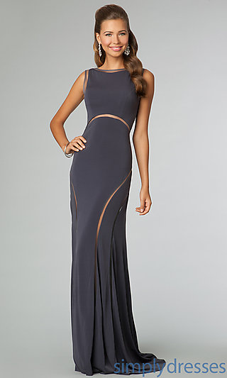 Long Open Back Sleeveless Dress, Jovani Prom Gown -Simply Dresses