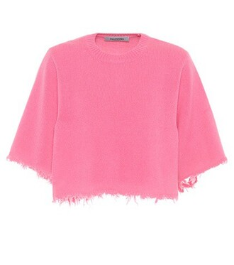 sweater cropped pink