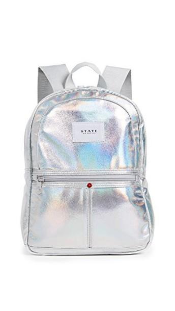 mini backpack silver bag