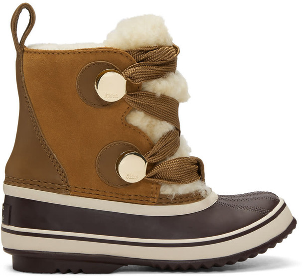 Chloe winter boots brown shoes
