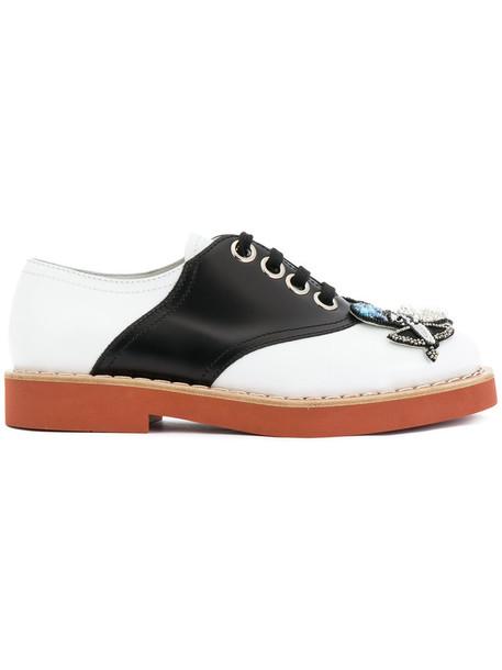 Miu Miu women embellished shoes leather white