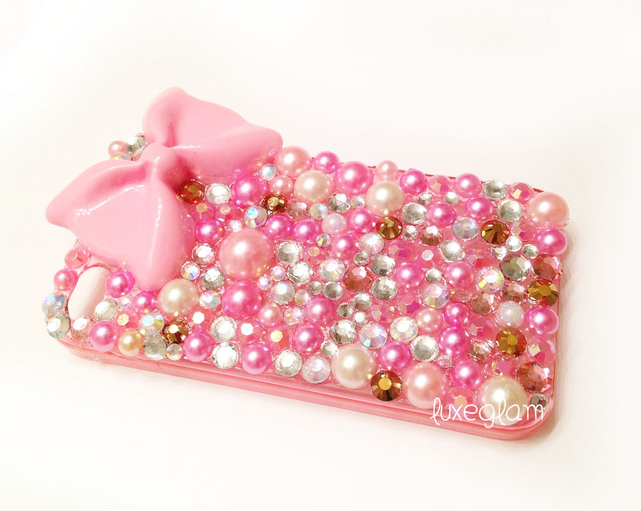 Iphone 4 4s Pink And Gold Fabulous Crystal Case Pink