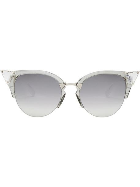 Fendi Eyewear women plastic sunglasses grey