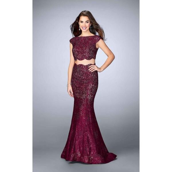 dress prom dress chiffon overlay beaded high low dress designer bag scalloped edges formal dress