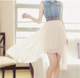 dress denim jacket high-low dresses flowy dress