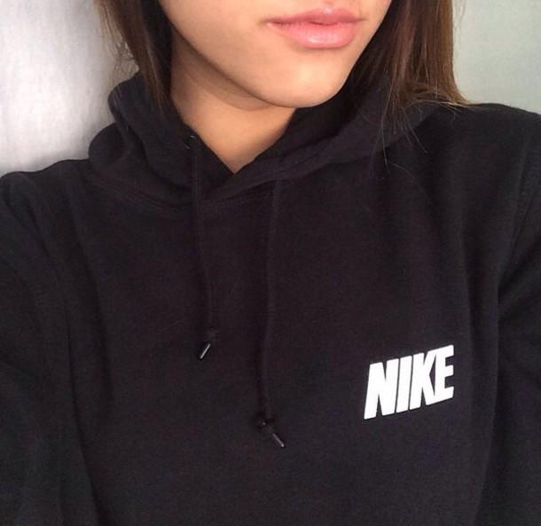 sweater hoodie black and white nike hoodie black hoodie