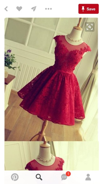 dress red lace dress homecoming dress party dress prom dress red