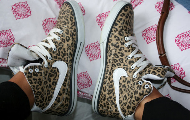 Shoes: leopard print, leopard shoes, nike leopard, nike ...