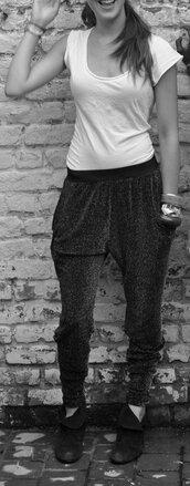 glitter,sarouel pants,black pants,pants