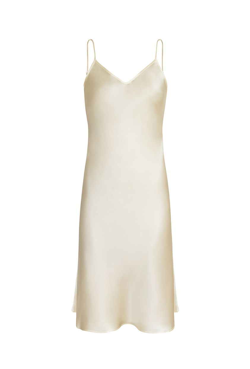 Silk slip dress - Dita champagne