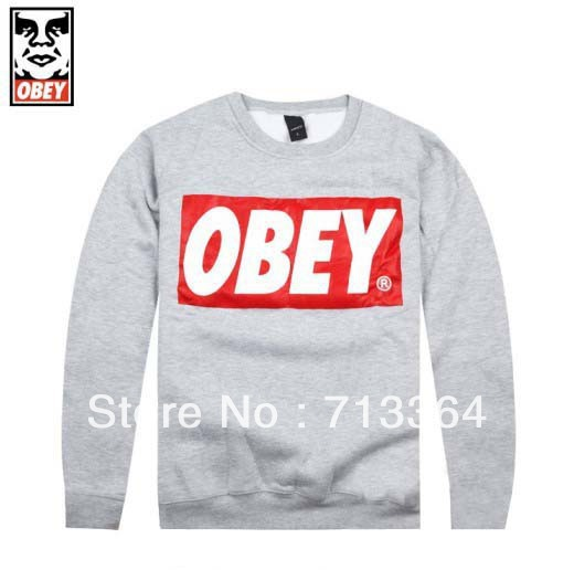 2014 new arrival Long sleeve sweater OBEY neck hoodie  autumn and winter sleeve head of hip hop-in Hoodies & Sweatshirts from Apparel & Accessories on Aliexpress.com