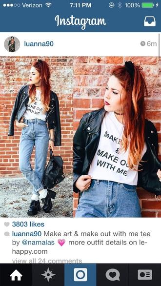 luanna perez t-shirt graphic tee shirt jeans