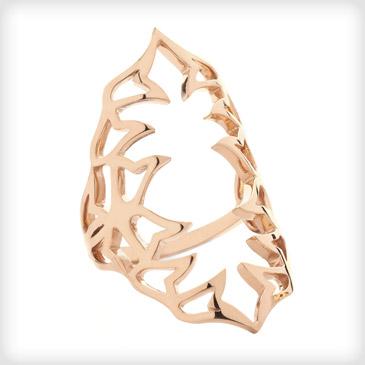 SHO Rose Gold Florabella Bella Large Ring | Cotton & Gems