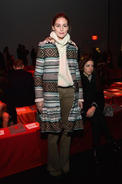 coat olivia palermo sweater turtleneck fashion week 2015
