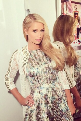 dress paris hilton cardigan