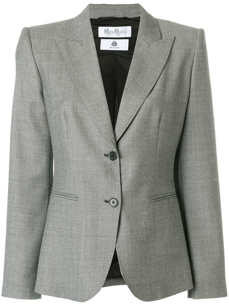 Max Mara blazer women spandex wool brown jacket