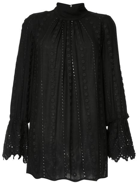 Ne Quittez Pas shirt loose women fit black top