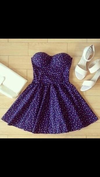 dress blue dress strapless dress