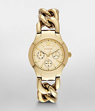 MULTI-FUNCTION CHAIN LINK BRACELET WATCH - GOLD | Express