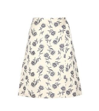 skirt jacquard white