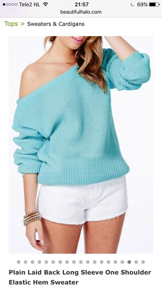 sweater blue knitwear fashion style trendy fall outfits winter outfits off the shoulder casual beautifulhalo