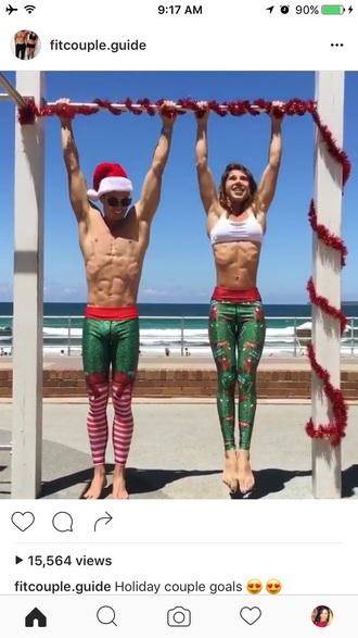 pants christmas print leggings