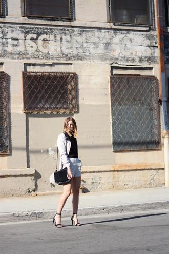 take aim blogger jacket shorts bag top shoes