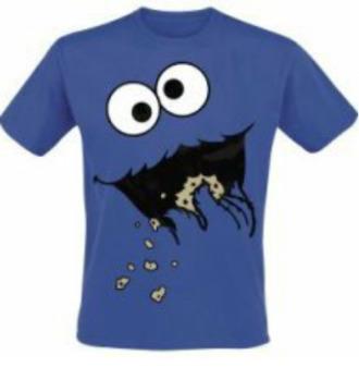 t-shirt blue shirt monster