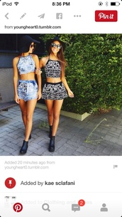 tank top,black shirt,elephant pattern,outfit,shorts,hat,jumpsuit,pattern,crop tops,summer top,shoes,sunglasses,top