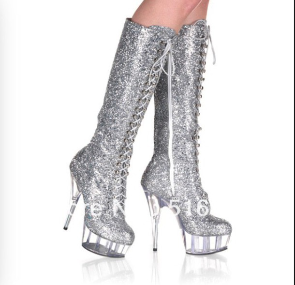 shoes sparkle glitter boots heels sparkly boots glitter boots