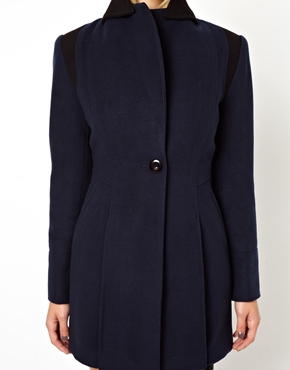 ASOS Petite | ASOS PETITE Exclusive Color Block Fitted Coat at ASOS