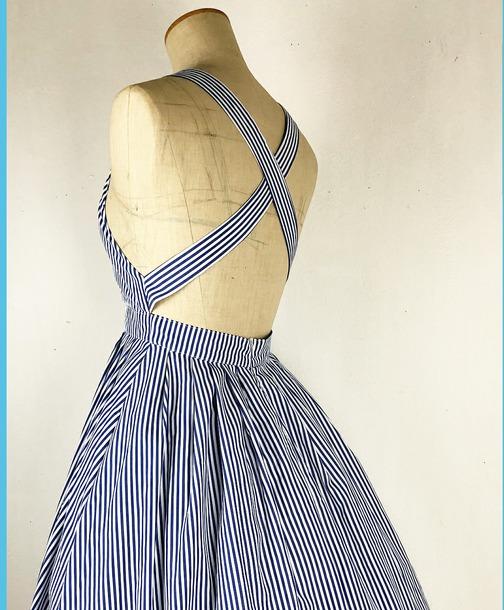 dress vintage striped dress