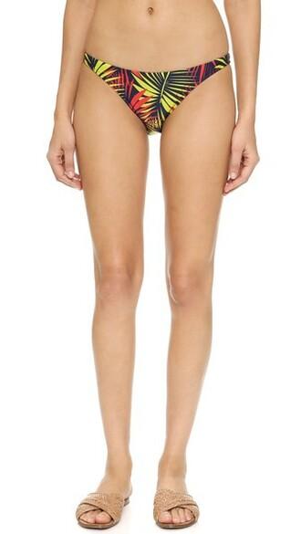 bikini bikini bottoms navy print swimwear