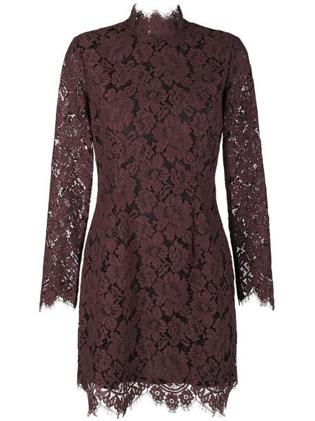 Ganni dress mini dress mini women lace cotton brown