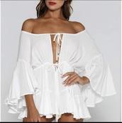 romper,white dress or romper