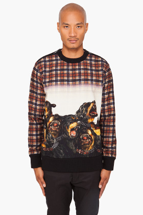 Givenchy Plaid Rottweiler Sweater for men | SSENSE