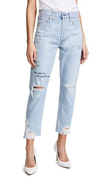 CITIZENS OF HUMANITY jeans high classic fit blue