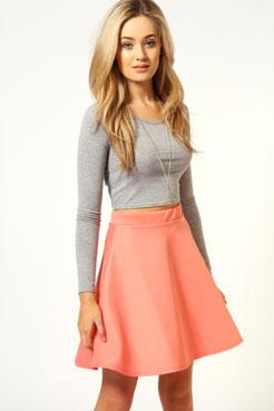Jessie Scuba Skater Skirt at boohoo.com