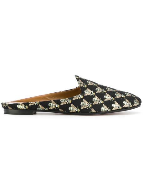 Aquazzura women mules leather black shoes