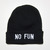 """NO FUN"" BEANIE FROM NO FUN PRESS on The Hunt"