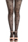 Jacquard hearts black tights